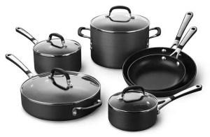 Simply Calphalon Nonstick 10 Piece Cookware Set (SA10H)
