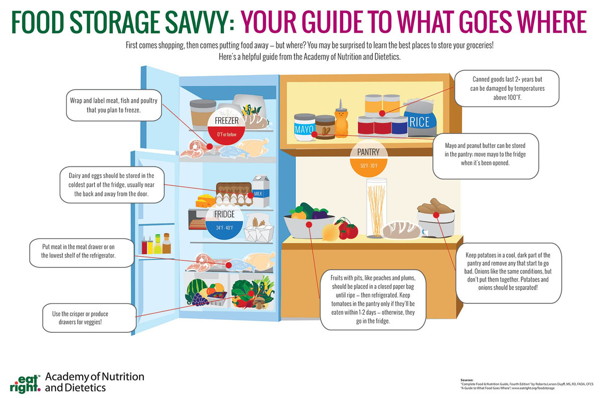 Infographic Food Storage Savvy