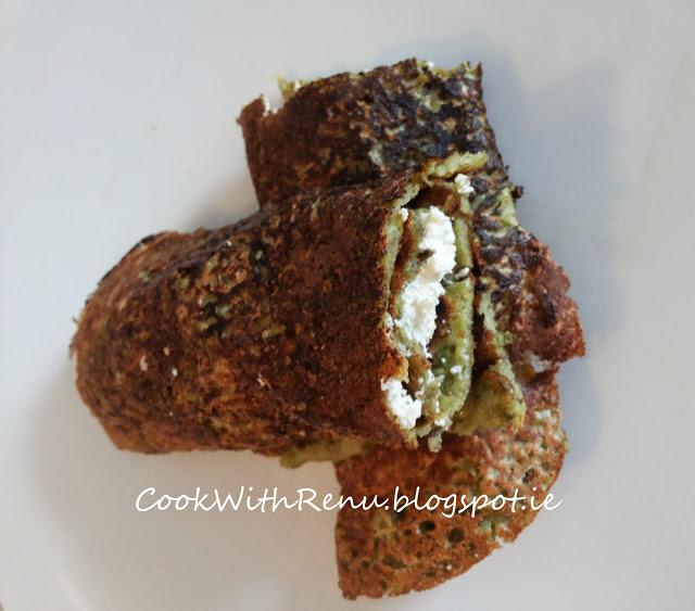 Oats and Green Dal Chila (Pancake)