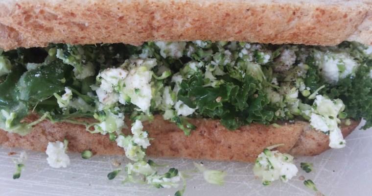 Kale, Broccoli and paneer Sandwich