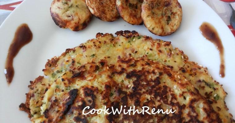 Vegetable Rava (Semolina) Pancake/Appe