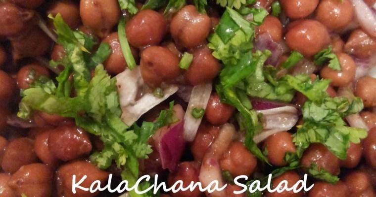Kala Chana Chaat/Salad (Kala Chana / Black ChickPea / Bengal Gram)