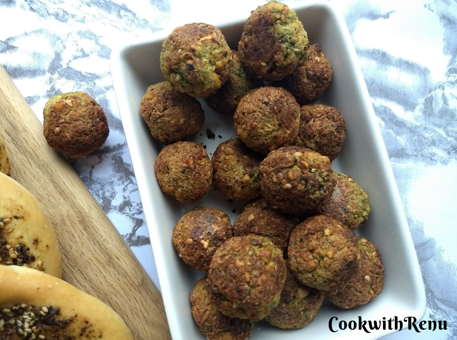 Easy Homemade Baked Falafel (No Canned Beans)
