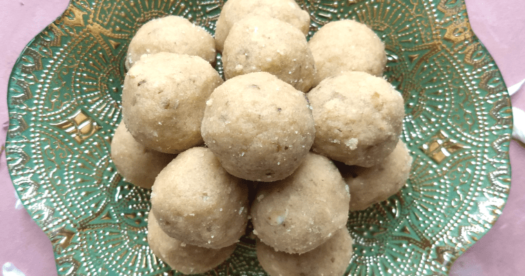 Atte and Gond ke Ladoo | Edible Gum Whole Wheat Truffles