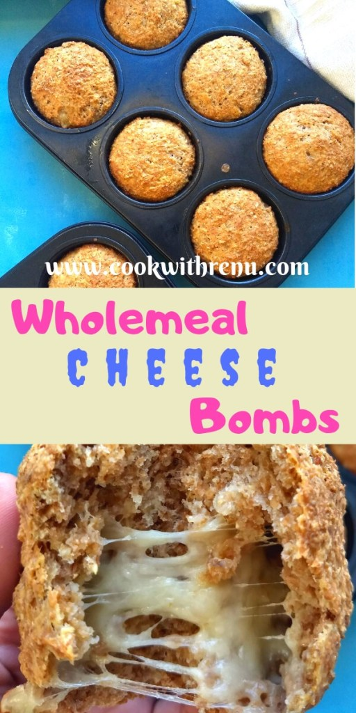 Wholemeal Cheese Bombs - This Extra Course Wholemeal Cheese Bombs are very easy and a perfect healthy snack, starter or a sides for your Kid's parties.