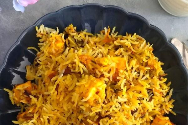 Tandoori Paneer Biryani | Paneer Tikka Biryani