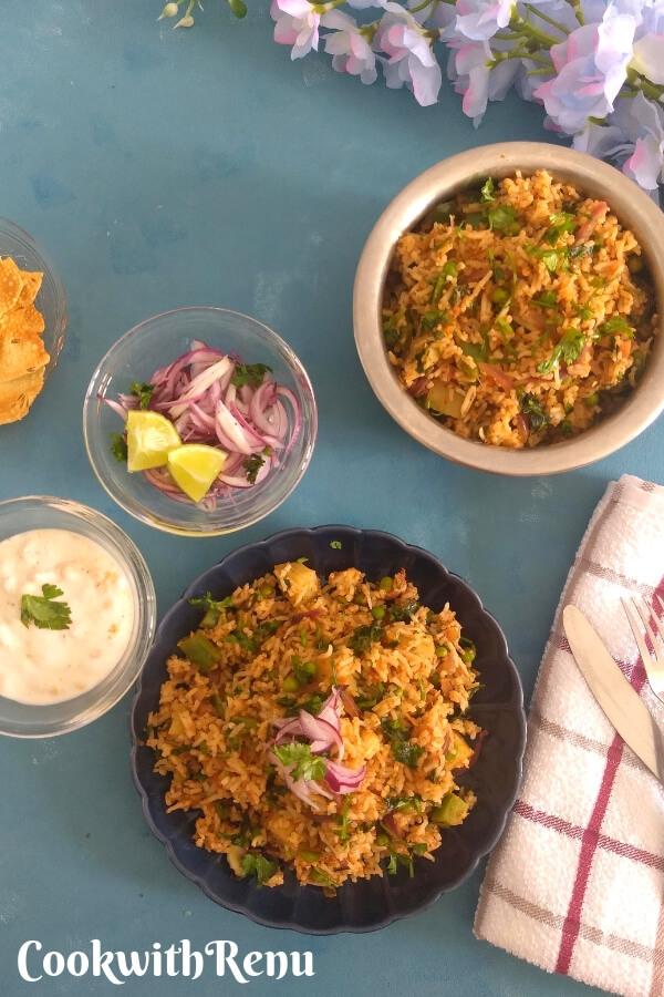 Mumbai style Tawa Pulao using leftover rice