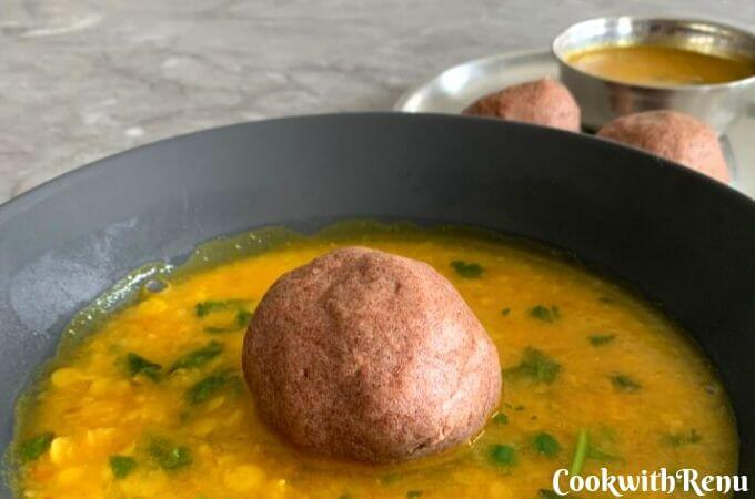 Gluten Free Ragi Mudde is a easy 10 minute wholesome meal, a rich source of Iron and calcium.and uses just 2 main ingredients Ragi, salt and water.