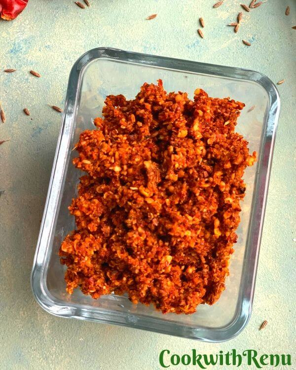 Vellulli Karam podi (Spicy Garlic & Red Chilly Powder)