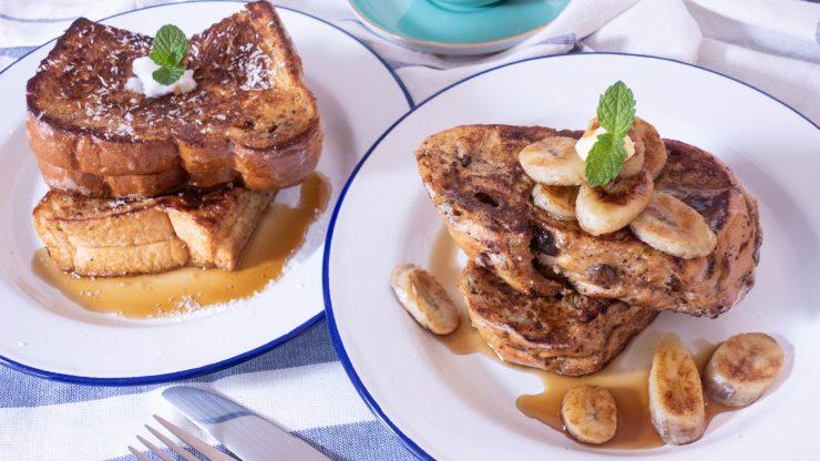 椰香法式吐司及香蕉奇亞籽花生醬法式吐司食譜