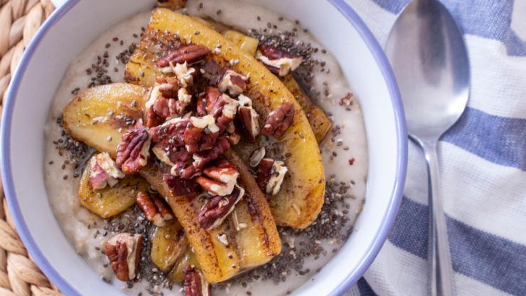 香蕉燕麥粥健康素食早餐