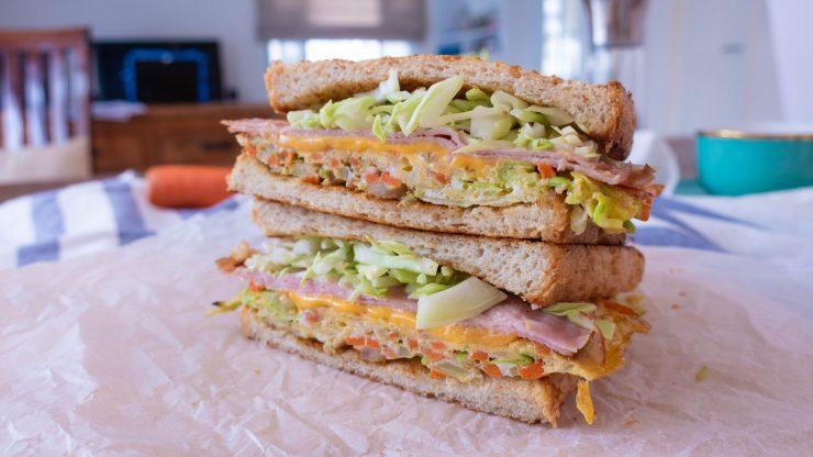 健康版韓式早餐三明治食譜
