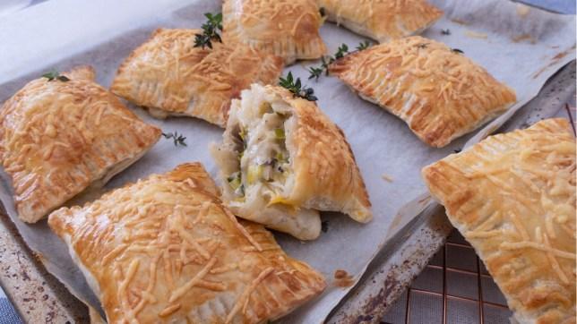 蘑菇韭蔥酥皮麵包早午餐食譜