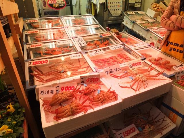 近江町市場,加能カニ,香箱ガニ