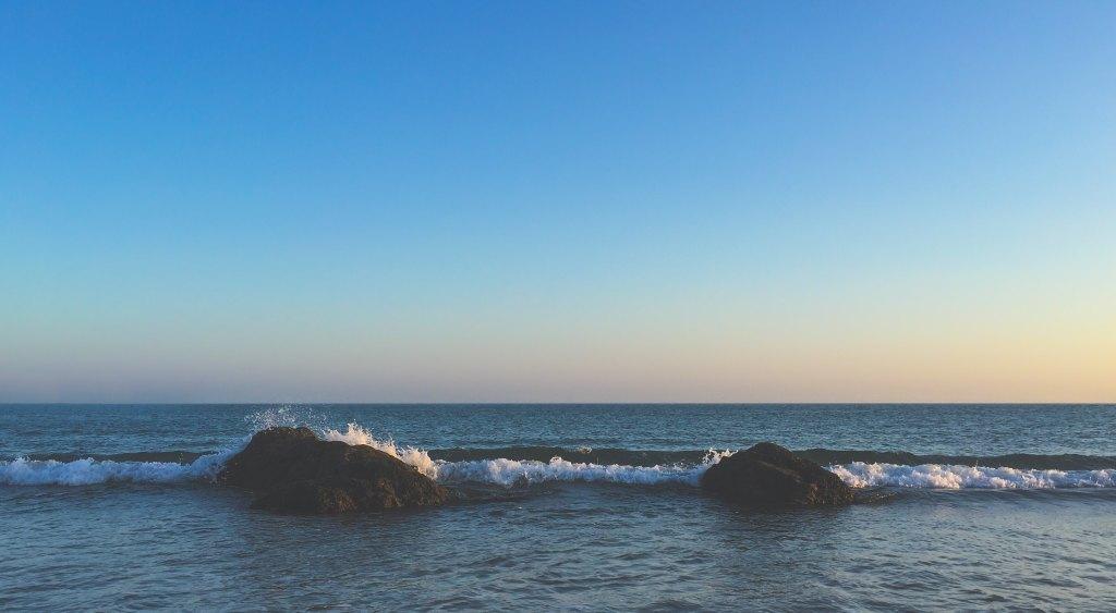 水平線,夕陽,夕日,太平洋