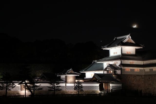 橋爪門,三御門,金沢城,ライトアップ