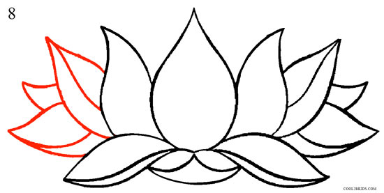 How To Draw Lotus Flower (Step By Step Pictures)