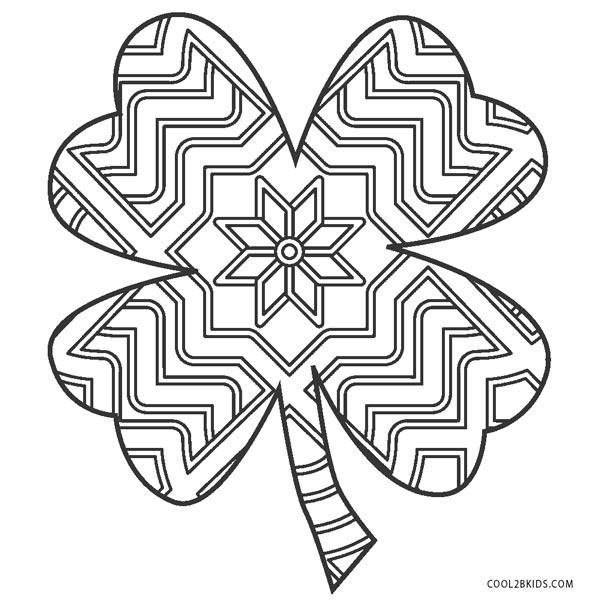 Zentangle Shamrock Coloring Pages Novocom Top
