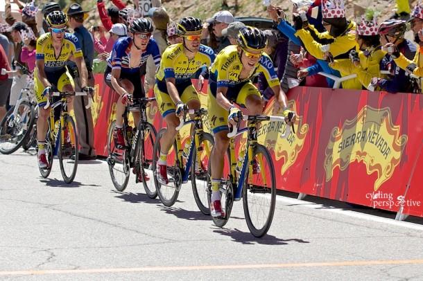 Pawel Poljanski, Rafal Majka, Tejay Van Garderen, Michael Rogers, USA Pro Challenge 2014 Stage 3