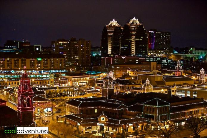 Plaza lights after dark in Kansas City