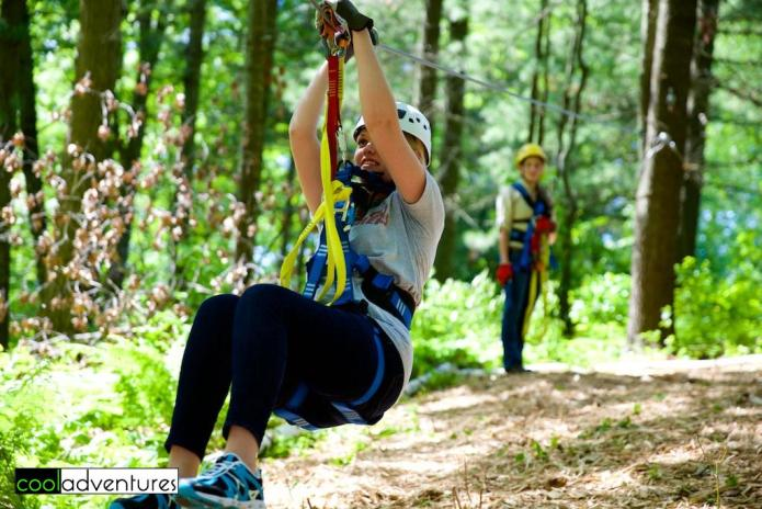 Caitlin Rick on the training course at Brainerd Zip Line Tour