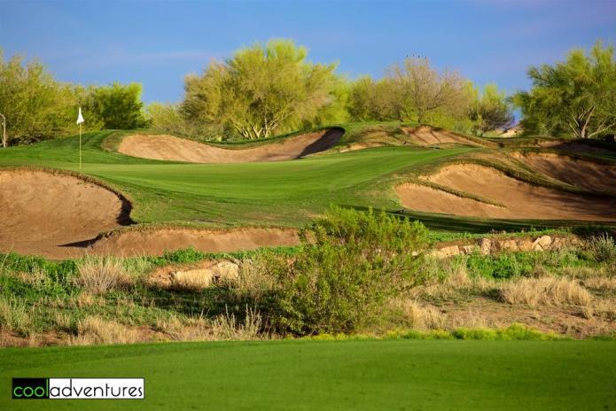 Wildfire Golf Club green at JW Marriott Desert Ridge, Phoenix, Arizona