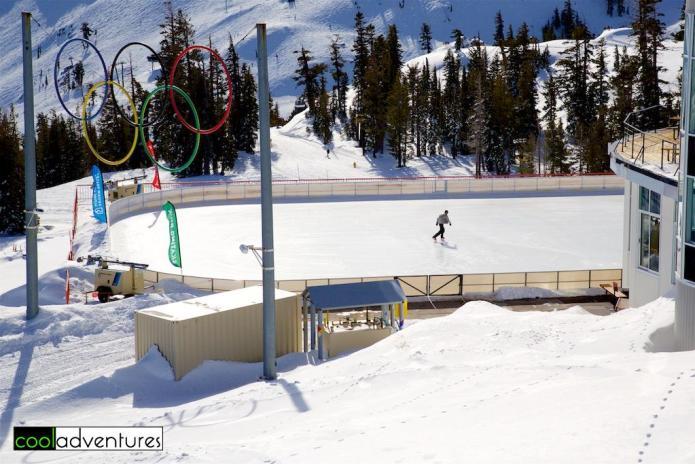 Ice skating, Squaw Valley, Lake Tahoe, California