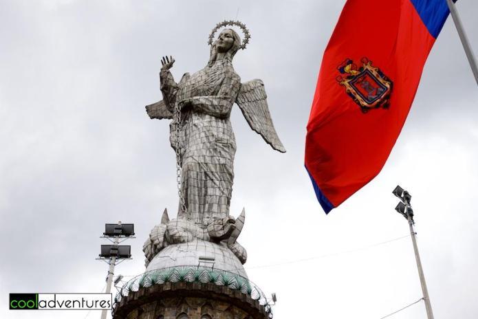 Things to do in Quito: La Virgen at the Mirador El Panecillo