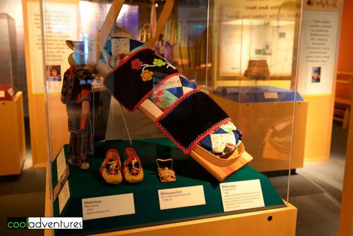 Exhibits from the Ojibwe people at the Mille Lacs Indian Museum