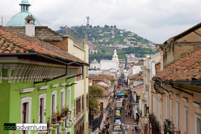View of Mirador El Panecillo, Quito, Ecuador