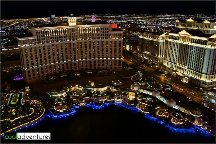 Bellagio and Caesars Palace from the Eiffel Tower Experience, Las Vegas, Nevada