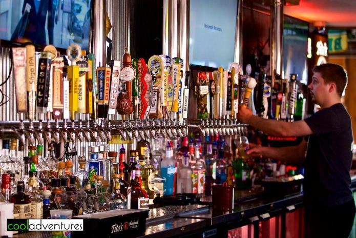 Huge assortment of tap beers at Zorbaz, Detroit Lakes