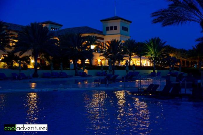 Evening at Santa Barbara Resort in Curacao