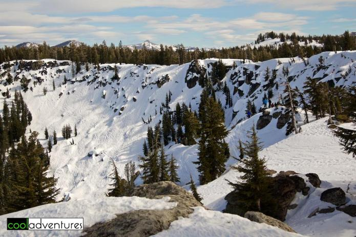 Huckleberry Canyon at Sierra at Tahoe Ski Resort, Lake Tahoe, California