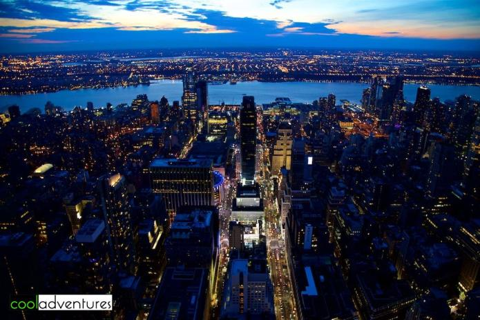 Sunset view from Empire State Building, New York City
