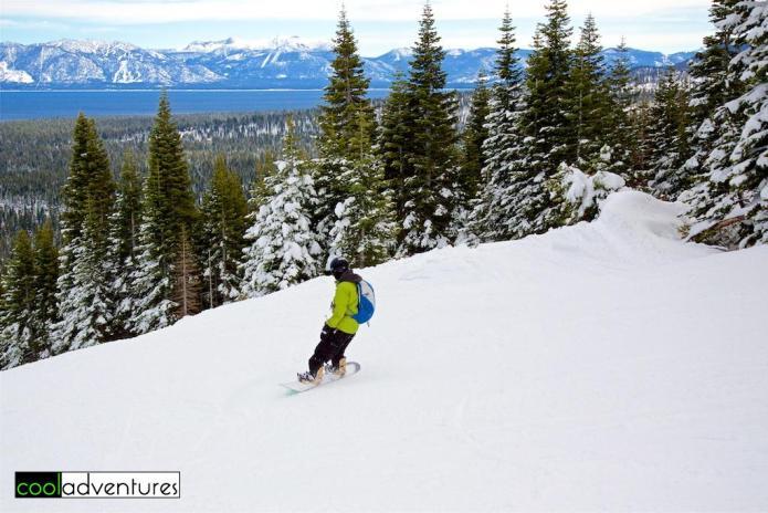 Snowboarding at Homewood