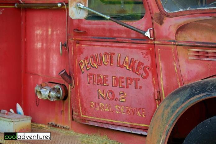 Pequot Lakes Fire Dept truck, Pioneer Village, Brainerd, Minnesota
