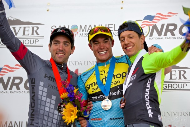 Ty Magner, Travis McCabe, Sergio Hernandez, Redlands Bicycle Classic 2014 Stage 3