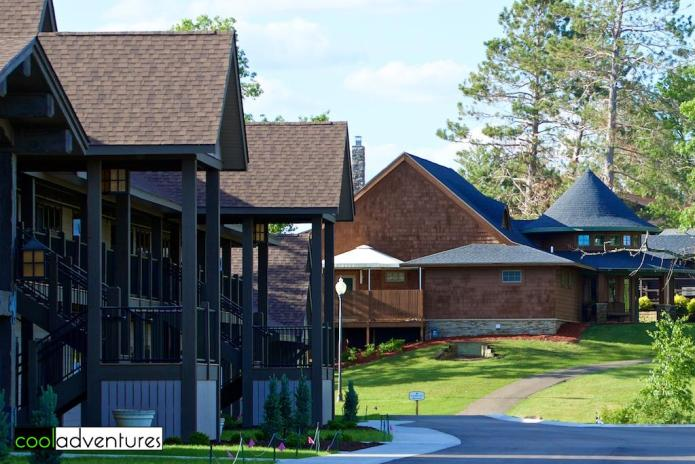 The Voyageur complex at Madden's Resort, located next to the spa