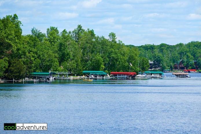 The beautiful Gull Lake coastline, Brainerd, Minnesota