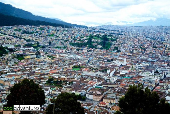 View of Quito from Mirador El Panecillo