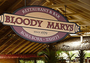 Bloody Marys restuarant in Bora Bora