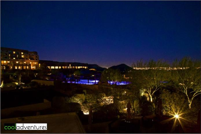 Night view from Signature Grill, JW Marriott Starr Pass, Tucson, Arizona