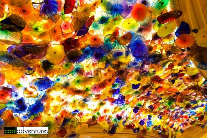 Dale Chihuly glass, Lobby ceiling, Bellagio, Las Vegas, Nevada