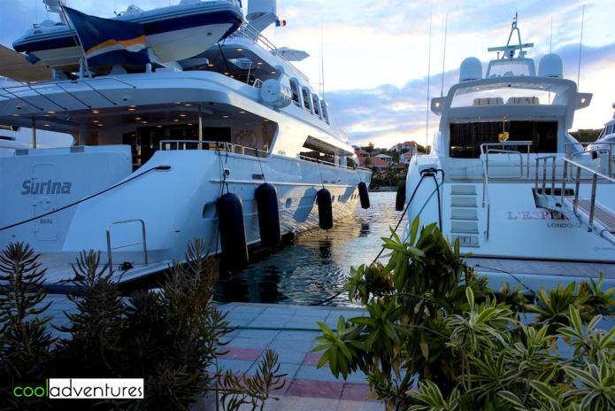 Sun sets on the Saint Barths yachts