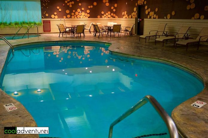Indoor swimming pool, The Lodge on Lake Detroit, Detroit Lakes, Minnesota
