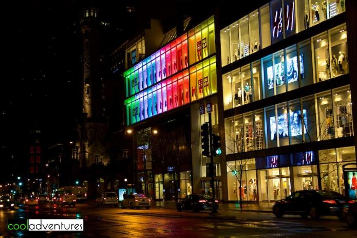 Water Tower Place at night, Chicago, Illinois