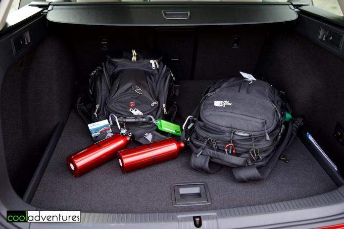 Trunk space in 2017 Volkswagen Alltrack