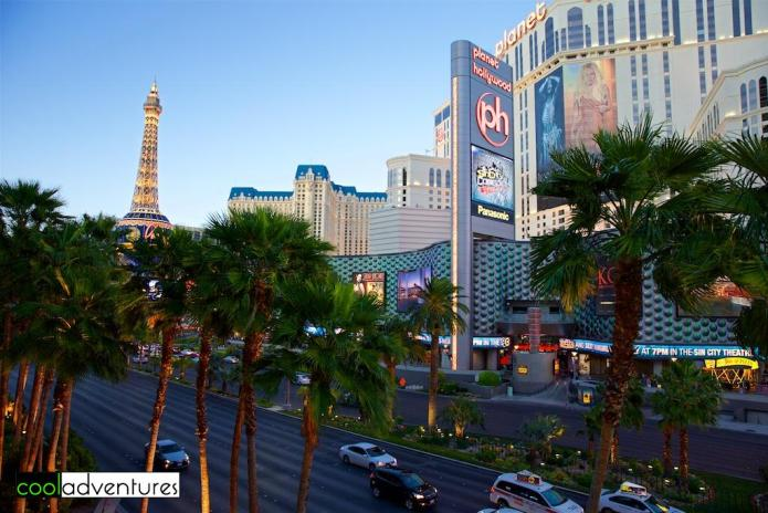 Early evening in Las Vegas, Nevada