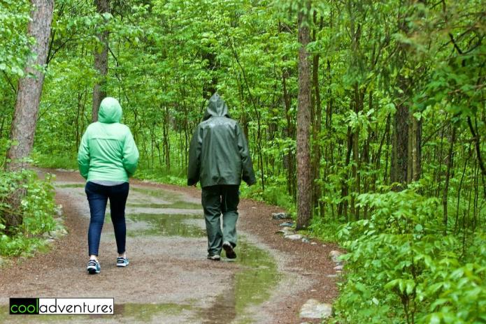 Hiking at Itasca State Park, Park Rapids, Minnesota